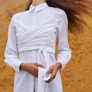 Mara Hoffman Lillian Wraparound Bodice Dress NWT